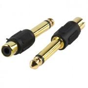 6.3mm jack plug naar tulp socket verguld