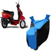 AutoAge Blue with Black Two Wheeler Cover For Yo EXL Yo Bike