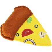 Jucarie textila pentru pisici, model pizza, 10,5 cm
