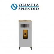 Olimpia Splendid Stufa A Pellet Olimpia Splendid Mia Vertical 11 Kw - 140 Mq Colore Silver