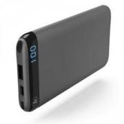Външна батерия HAMA LED10S, 10000 mAh, Черен, HAMA-183362