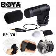 BOYA BY-V01 Mini X/Y Stereo Condenser Microphone with 90°/ 120°Selectable Pickup Patterns for Canon Nikon Sony Pentax DSLR Camera