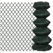 vidaXL chain fence 0.8 x 15 m Green