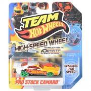 2012 Team Hot Wheels High-Speed Wheel Pro Stock Camaro Yellow/White/Green Wheels