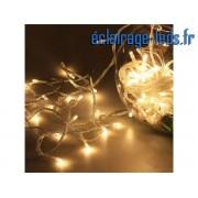 Guirlande lumineuse LED 10M 100 leds blanc chaud. ref gl-03