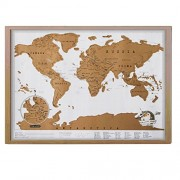 Lepakshi Luxury Edition Black World Map Black Deluxe Scratch Map Travel Scratch Off World Map Best Gift for Travelers 83X60Cm