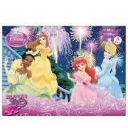 Disney Princess Super 3D Puzzles, 3- 100 Piece Puzzles and 1- 48 Piece Puzzle