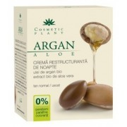 Crema restructuranta de noapte cu ulei de argan si aloe (Bio), 50ml