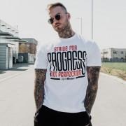 GymBeam Majica Progress White XXL