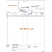 Seturi Facturi Personalizate A4 in 2 Exemplare, Tipar 1+0, Facturier Autocopiativ Personalizat, Formulare Tipizate Personalizate, Set Facturi Personalizate Autocopiative