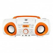 Boombox cu radio Blaupunkt BB20BT alb cu portocaliu