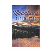 John Muir - The Mountains are Calling - Monarch Mountain - Sunset (12x18 Premium Acrylic Puzzle, 130 Pieces)