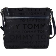 Tommy Hilfiger Women Casual Black, Blue Nylon Sling Bag