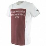DAINESE Camiseta Dainese Racer-Passion Grey / Burgundy