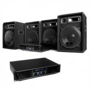Dj set sistema audio 4x casse 2x amplificatori pack kit