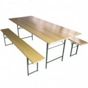 STOUT baštenski set sto + 2 klupe – 220 x 80 056027