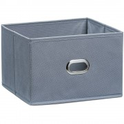 ZELLER Koš pro skladování, organizér, barva šedá, 24 x 23 x 16 cm, ZELLER