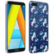 Avizar Funda Silicona Unicornios de Colores para Huawei Y6 2018/Honor 7A