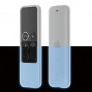 Elago R2 Slim Case - удароустойчив силиконов калъф за Apple TV Siri Remote (бял-фосфоресциращ)