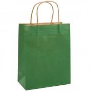 Sacose din Hartie Model Verde Inchis, 25x9.5x30 cm, 100 Buc/Bax, Plase pentru Cadouri