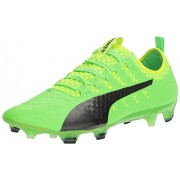 PUMA Men's Evopower Vigor 1 FG Soccer Shoe, Green Gecko-Puma Black-Safety Yellow, 7 M US