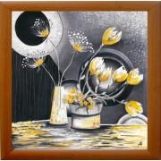Žuto cveće, uramljena slika