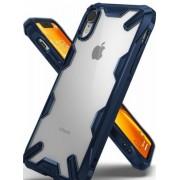 Protectie Spate Ringke Fusion X 8809628562349 pentru iPhone Xr (Transparent/Albastru)