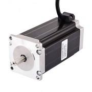 Laliva Tool Motor de doble eje Nema 23 de 113 mm 3 Nm (425 oz.in) 4.2A motor paso a paso Nema23 de 4 cables para enrutador CNC/fresadora CNC, Multi