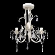 vidaXL Crystal Pendant Ceiling Lamp Chandelier Elegant White