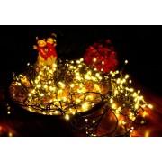 Karácsonyi LED fényfüzér 4 m - meleg fehér 40 LED, időzítővel