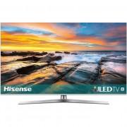 Televizor LED Hisense H55U7B, 139 cm, 4K, Procesor quad core, Dolby Atmos, Smart TV, Wi-Fi, Bluetooth, CI+, Clasa A+, Negru/Argintiu