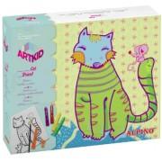 Cutie cu articole creative pentru copii, ALPINO ArtKid Cat Friend