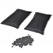 vidaXL Дезодориращи торбички с активен въглен, 2 бр, 2 кг