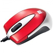 iBall Mini X9 Double Retractable Blue Eye Optical Mouse - Red