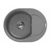 Chiuveta metaltek Elleci Easy Round 600 600 x 470 mm adancime 200 mm cuva reversibila Titanium M73