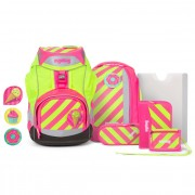 Ergobag Pack Mochila escolar con accesorios Set 6pcs. incl. Kletties strahlebär pink