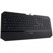 Клавиатура Modecom MC-800U, 104 бутона, 12 мултимедийни клавиша,черна, USB