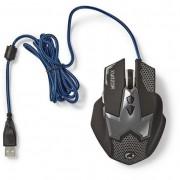Nedis GMWD200BK USB gaming egér - fekete