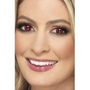 Lentile de contact lup rosu