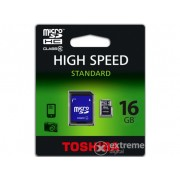 Card memorie Toshiba 16GB Class 4 Micro SDHC cu adaptor (SD-C16GJ_6A)