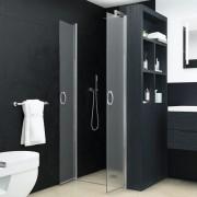 vidaXL Uși cabină de duș, mătuit, 75 x 185 cm, ESG