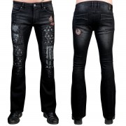 Muške hlače (traperice) WORNSTAR - Riven - Black - WSGP-RVN