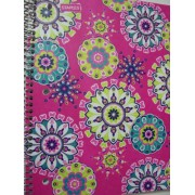 Staples Wide Ruled Durable Poly Cover Pocket Spiral Notebook ~ Kaleidoscope (100 Sheets, 200 Pages, 2 Pockets)