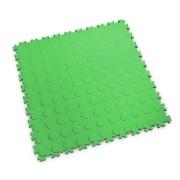 Zelená vinylová plastová zátěžová dlaždice Industry 2040 (penízky), Fortelock - délka 51 cm, šířka 51 cm a výška 0,7 cm