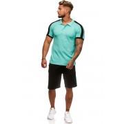 OneRedox Jogging Suit Sport Set Training Suit Shorts & Short Sleeved Shirt Mint 1335C 59005-2