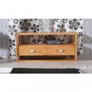 Comoda TV din lemn masiv de fag Minimal RTV natural, l125xA58xH40 cm