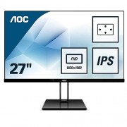 "AOC 27"" 1920x1080 Full HD 75Hz 5ms HDMI DisplayPort IPS Gaming Monitör Siyah 27V2Q"