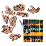 Shop Zoombie 24 Pc Dinosaur Party Pack Supplies - Dino Pencil Toppers and Pencils Favors, Supplies, Stocking Stuffers, Themed Parties, Classrooms