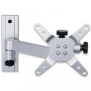Techly Supporto a muro per TV LED LCD 13-30'' inclinabile 2 snodi silver