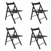 Set 4 scaune bucatarie pliante CB Lemn fag negru